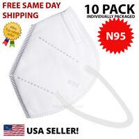 10 Pcs N95 MEDICAL Face Mask Cover Protection Respirator Masks N 95