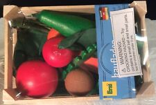 Erzi Pretend Play Wooden Grocery Shop Merchandise Asst Vegetables Made In German