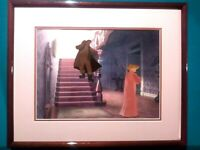 "JIM DEAR, DARLING DISNEY PRODUCTION CELS FROM ""LADY AND THE TRAMP"", MINT FRAMED"