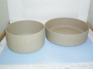 """Hasami Porcelain Japan NATURAL Set of 2 Bowls 7 1/4"""" and 5 1/2"""""""