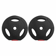Body Power 5Kg Tri Grip VINYL Standard Weight Disc Plates (x2)