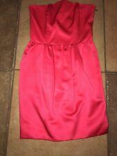 RACHEL ROY designer fushcia pink Strapless Band Back Blouson Dress 2 party