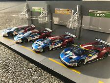1/43 Spark 4-er Set FORD GT 24h Le Mans 2018 #66/67/68/69 TOPMODELLE OVP !