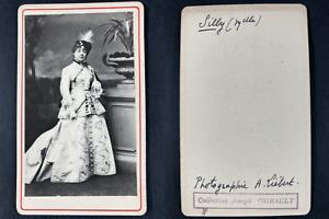 Liébert, Paris, Mademoiselle Silly, comédienne Vintage cdv albumen print.Madem