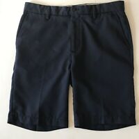 Men's Greg Norman Everbest Golf Casual Shorts Flat Front Blue Navy Size 32