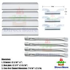 Parts Kit DG202 Replacement Brinkmann Gas Grill Burners Tube Heat Plate Steel