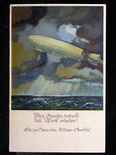 Frankierte Ansichtskarten aus Baden-Württemberg mit dem Thema Zeppelin