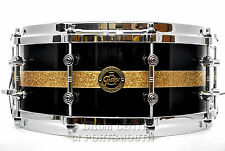 Gretsch Limited Edition Gold Series Maple Snare Drum 14x5.5 Black Gloss - Deal!