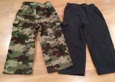 Lot of 2 Boys Garanimals Micro Fleece Pants Size 3T Camouflage Green Black Camo