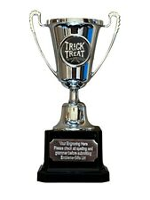 Halloween Trick or Treat Silver Moment Cup Award Trophy (D8) ENGRAVED FREE