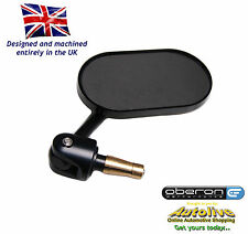 "Oberon billet oblong adjustable bar end mirror (Black-1"") from Autolive Online"