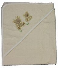 Abstract BABY Ivory Bear Infant Terry Hooded BATH TOWEL