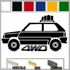 adesivo sticker fiat PANDA 4x4 offroad 4wd tuning down-out dub prespaziato,auto