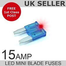 LED 15A AMP mini fusibili a lama quantità 10
