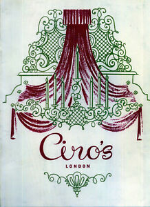 AUDREY HEPBURN 'Petite Sauce Tartare' CIRO'S CLUB London 1949 Programme reprint
