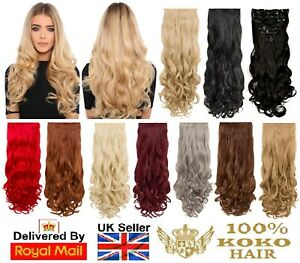 KOKO Eight Piece/Weft Curly Clip-in Extensions Looks & Feels Like Human Hair