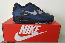 Nike Air Max 90 Essential Squadron Blue/Flt Silver-Black Size 6 537384-413