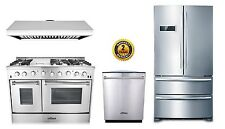 "48"" Gas Range Thor Kitchen 4-Piece Bundle"