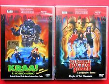 2 dvd film kraa il mostro marino kraa the sea monster the horrible doctor bones