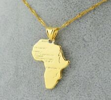 Africa shaped necklace pendant