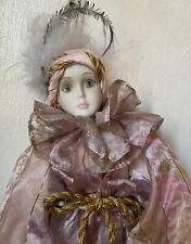 Porcelain Jester Clowns &  Harlequin Doll