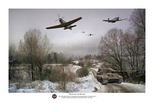"WWII WW2 USAAF USAF P-51 Mustang Tiger Tank Aviation Art Photo Print - 8"" X 12"""