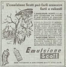 W1233 Emulsione Scott - Pubblicità 1949 - Vintage Advertising