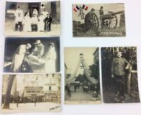WW1 MILITARY & MEDICAL POSTCARD LOT Antique French RPPC GUILLEMINOT War TARARE