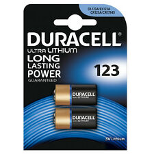 2 x DURACELL 123 BATTERY LITHIUM 3V ULTRA PHOTO BATTERIES EL123A CR123A DL123A