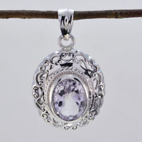 attraktives Amethyst 925 Sterling Silber lila Anhänger natürlichen Großhandel de
