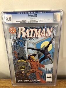 BATMAN #457 (Timothy Drake 1st app as Robin) CGC 9.8 DC 1990