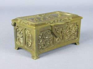 Antigua Caja Cajita Liberty Fundición Bronce De Comienza Xx Sec
