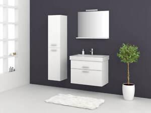 Badmöbelset Girona 60 80 100 Badmöbel Wastischunterschrank Hochglanz weiß Sieper