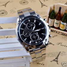 New Luxury Men Gents Stainless Steel Band Machinery Business Sport  Quartz Watch