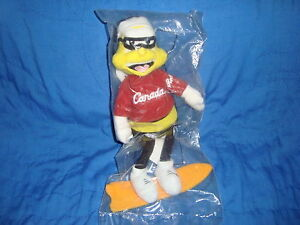 General Mills Honey Nut Bee Olympic Roots Canada Plush Snow Boarder in Package