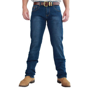Mitchell Mid Blue Mens Classic Fit Jeans Straight Leg Ringers Western