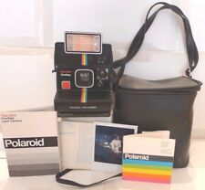 Polaroid SX-70 Rainbow Time-Zero OneStep Instant Camera +Q-Light +Case  TESTED