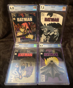 🔥  BATMAN  YEAR ONE #404, 405, 406, 407 FRANK MILLER CGC DC COMIC Lot