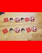 Roblox Cupcake Cake Toppers - Set of 12 - Made to Order - Fast Shipping