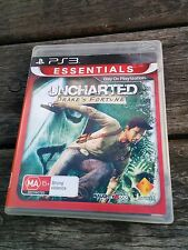Uncharted: Drake's Fortune PS3 (Essentials) **TESTED** **VGC**