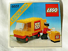Lego 6651 Post Office Van instructions vintage classic town city 1982