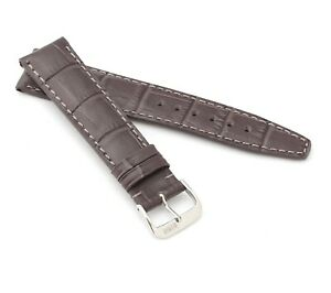 """RIOS1931 Alligator Style Watch Band """"Dallas"""", 18-22 mm, 6 colors, new!"""