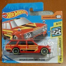 Job lot 3 Hot Wheels Datsun 510 wagon short card
