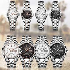 JSDUN Men Women Watch Automatic Mechanical Movement Tungsten Steel Wrist Watches