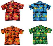 HAWAIIAN SHIRT PARTY FANCY DRESS Small to XXXXL BEACH PALM TREE SHIRT STAG PARTY