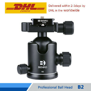 BENRO B2 Ball Head Professional Aluminum Dual Action Ball Head For Camera Tripod