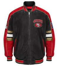 Officially Licensed NFL San Francisco 49ers Varsity Suede Leather Jacket XL