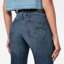 G-Star Gstar Raw Womens Lynn Mid SKINNY Dark Denim Stretch Jeans W26 L30
