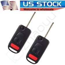 2 For Mercedes Benz ML 320 430 500 SLK 230 Key Fob CASE Shell and Blade Uncut