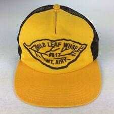 Vintage 70s 80s Gold Leaf Tobacco Trucker Snapback Hat Foam Surf Skate Work NC